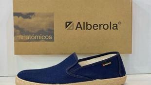 Espardenya d'home, de la marca Alberola, plantilla extraible, adaptable a plantilles ortopèdiques, sola de goma 22.50€