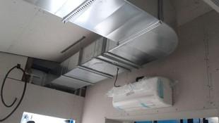 Conductos de chapa ventilacion, equipo multisistema SPLIT pared.
