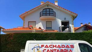 Rehabilitación de fachadas con corcho en Torrelavega.
