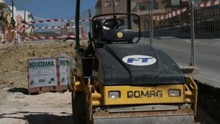 Máquina par compactación del terreno