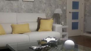 JPapel pintado y panel japonés suministrado por Equis Decoración. Un salón con estilo!
