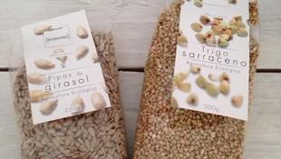 Pipas de girasol y trigo sarraceno