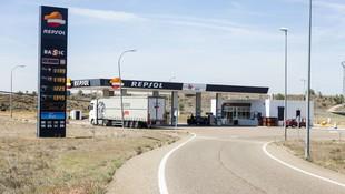 Estación de servicio en Dueñas, Palencia