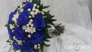 Rosas azules para novia en Parla
