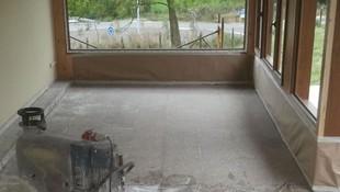 pulido de terrazo (durante)