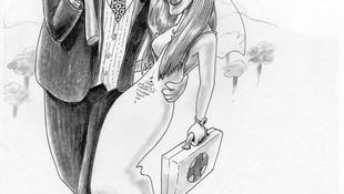 Caricatura novios, Caricatura boda