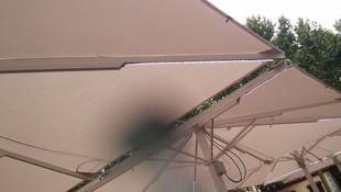Instalación Luces Led en Sombrilla Exterior