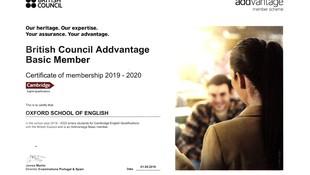 Certificado British Council