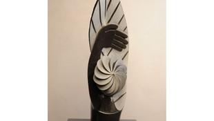 Banana Leaf, 77 X 14 cm. Amos Supuni