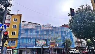 Andamio multidireccional. Rehabilitación de fachada. La Orotava.