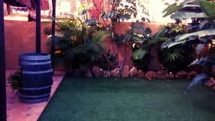 Patio exterior de la residencia