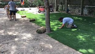 Suministro e instalación de césped natural en Torrelodones