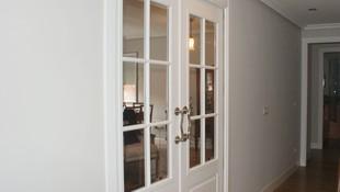 Puerta de interior vidriera Krona lacada en Blanco