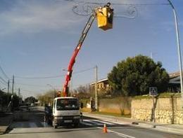 Instalación y mantenimiento de alumbrado público en Aldea del Fresno