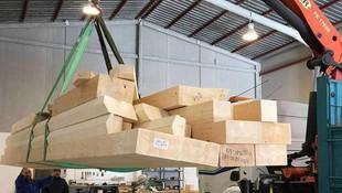 Grúa para cargar mercancía