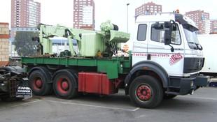 Traslado maquinaria de obra Bilbao