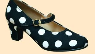 Zapato de gitanilla de lona con hebilla