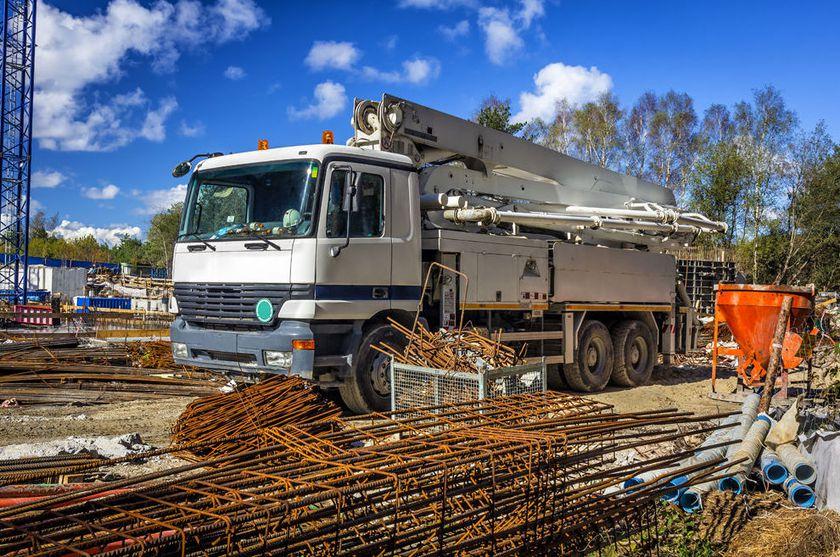 Camión grúa para obra