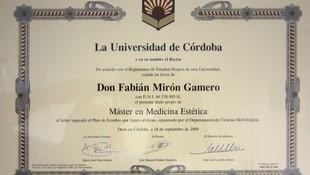 Certificado Máster