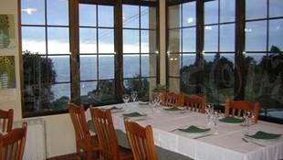 El comedor con vistas al mar