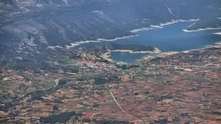 Vista aérea del pantano