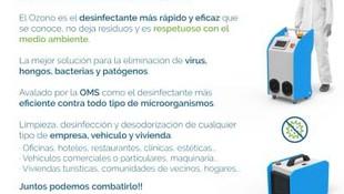 Desinfección por Ozono para empresas y particulares en Mallorca