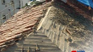 Demolición de cubierta de tejado