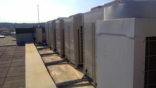 unidades exteriores VRV en cubierta