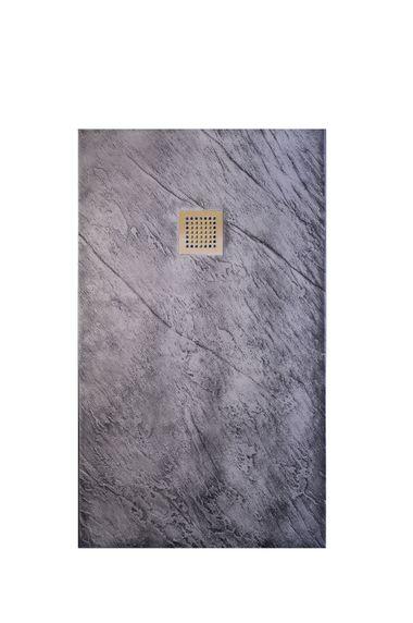 Plato de ducha en color óxido plata