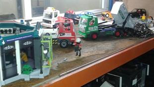 Exposicion Playmobil en Albacete. Desguaces Clemente