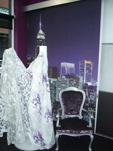 Telas y muestrarios para la fabricación de toda clase de cortinas, estores...