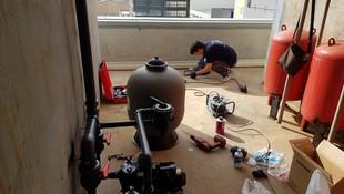 Instalación industrial de tratamiento de aguas